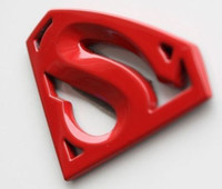 Wholesale 6 cm cm Superman D Metal Personaliz Auto Car Motor Logo Car sticker batman badge emblem tail decal high quality RED GOLD SILVER