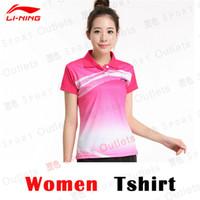 Wholesale Fashion LI NING Badminton Polo Shirts Men badminton Sport Polo Tshirt Quick Dry Lining AAYH046 Color Plus Size