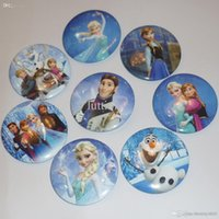 Wholesale Frozen Cartoon Pin Badge cm Anna Elsa Princess Olaf Costume Cosplay Boys Girls Toy Fashion Badges From the sale