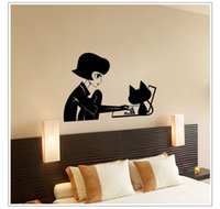 Wholesale Fashion Miss Puff Wall Stickers Waterproof PVC Television Walls Wall Stickers Home Decor Living Room Removable