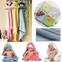 Wholesale Children s Blankets girls towel robe boys bath towel newborn was kids baby towels cmx76cm cotton bagged cheap HX