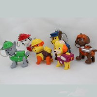 Wholesale Retail Anime Toys Puppies Patrol LED Dogs Team with Light and Sound Rocky Marshall Chase Action Figures Best Gifts For Children