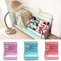 bamboo boards - Color send randomly Hot Sale DIY Paper Board Storage Box Desk Decor Stationery Makeup Cosmetic Organizer Top