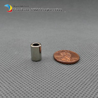Wholesale 18 NdFeB Magnet Ring od x id x mm quot thick Grade N48 Strong Neodymium Permanent Magnets Tube Rare Earth Magnets