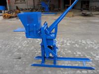 Wholesale Manual brick making machine clay soil interlock brick machine for sale
