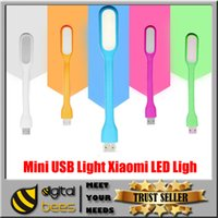 Wholesale Mini USB Light Xiaomi LED Light Gadget Portable Bendable Outdoor Sports Soft LEDLight For Power bank Computer With Retail Packaging