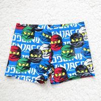 Boy Bikinis 6-8-10-12-14 Children ninja turtle Swimming Trunk Summer NEW The Avengers Boys Cartoon Animal Printed Cute Swimming Trunk B