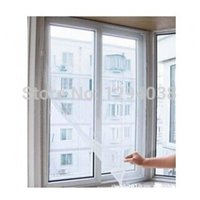 Wholesale 1 X1 M Pressure Sensitive Adbesive Invisible Simple Window Screen Mosquito Protector Window Curtain