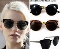 2015 Gafas de sol de la marca de fábrica de los hombres de las gafas de sol del diseñador de la alta calidad para las mujeres Gafas de sol de la manera de las gafas de sol del ojo del gato del metal de la media estupenda de la vendimia