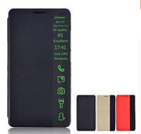 achat en gros de huawei ascend compagnon bascule-Nouveau Smart Health Phone cas de protection pour Huawei Ascend Mate 7 Intelligent PU Leather Flip Covers Case