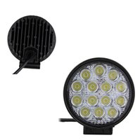 atvs free shipping - 42w leds Offroad Light Round LED Work Light Flood Spot Combo Beam Lamp for offroad Truck tractor ATVs
