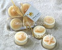 beeswax candles sale - Factory directly sale sets wedding candle Seaside Tea Light Candle Wedding Favor