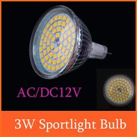 Wholesale AC DC V W LEDs SMD2835 Sportlight Bulb Lamp Warm White MR16 Light Cup led spotlights Energy Saving Product