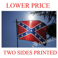 Wholesale DHL FREE Confederate States Rebel Flag X FT CSA Battle Civil War Southern South Battle Dixie National Flags cm FACTORY IN STOCK