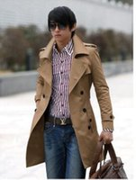 Wholesale Fall High quality Fashion brand men winter trench coat mens long jacket outerwear