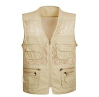 bamboo mesh - 2016 Hot Sale New Brand Mesh Fishing Vest Men s Sleeveless Jacket Vests XL Plus Size Hiking Vests Cameraman Vests