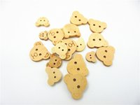 wood craft - Natural Colors Lovely Shape Two Hole Wooden Buttons For DIY Wood Buttons Craft Scrapbook Sewing Accessories Cardmaking DIY