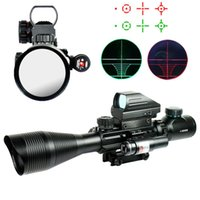 Wholesale 4 X50 EG Tactical Rifle Scope Holographic Reticle Sight Red Laser VE659 W1 SYSR