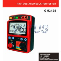 Wholesale digital insulation tester Insulation Resistance Meter GM3125 GM with Rated Voltage V V V V A