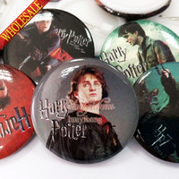 Wholesale A Set of Harry Potter Tin Buttons pins badges MM Round Brooch Badge For Children Toy Mixed Styles Kids Party Favor