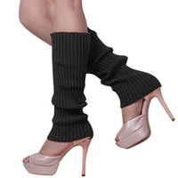 Wholesale Women Solid Color Knit Winter Leg Warmers Knee High Legging Boot P6U