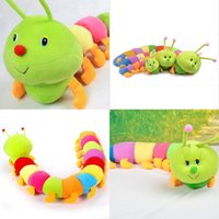 caterpillars - 2015 Hot New Sizes Baby Toys Colorful Caterpillars Millennium Bug Doll Plush Toys Large Caterpillar Hold Pillow Dolls for kids Gifts MYF24