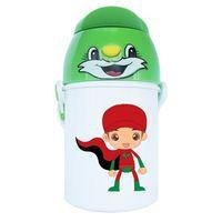 Livraison gratuite Bouteille d'eau pour enfants Print Super Hero Superman Straw Bottles Gift For Kids
