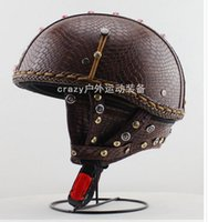 Wholesale Personalized hand diamond bullet Harley motorcycle helmet helmet half helmet fashionable men and women