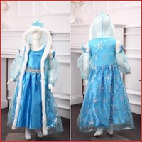 Wholesale Elsa Cosplay Costume For Kids Girl Party Dresses set