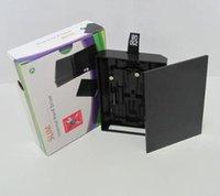 Revisiones Xbox duro-Disco duro de alta calidad Nueva interna del recinto duro HDD caso de Shell cubierta de la caja para XBOX 360 Slim - Negro DHL FEDEX UPS ENVÍO GRATIS