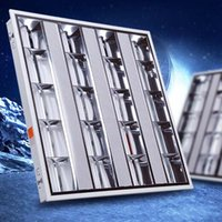 Wholesale LED Grille Light Complete Set f T5 fluorescent Plate Embedded Office Integrated Ceiling Light W W W