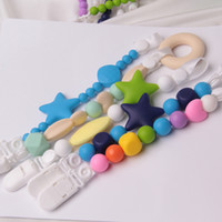 Wholesale Personalised Dummy Soother Pacifier Clip holder string chain Teething pendant clips