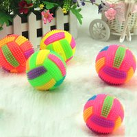 ball bouncing sound - New Light Up Volleyball Sound LED Flashing Bumpy Kids Toy Party Favors Gift Magic Fun Children Toy