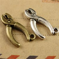 antique vise - New Arrived Vise Charms Tibetan silver And Antique Bronze Pliers Accessories DIY Jewelry Charms Fit DIY Craft A3827