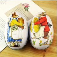 chicken - Easter eggs with rabbit and chicken pattern egg box for candy and chocolate