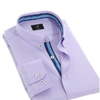 tommy shirt - New Long Sleeve Solid Color Shirt Men Regular Fit Turn down Collar Non Iron Business Casual Dress Shirts Work Wear Tommy