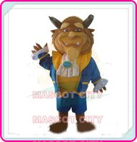Custom Made beast adult costume - High Quality Beauty and the Beast lion mascot costume Adult Size Hot Movie Cartoon Character Mascotte Suit Fancy Dress SW1221