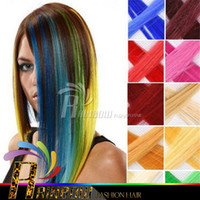 Wholesale Clip In Hair Extensions inch Long Straight Synthetic Hair Clip in Synthetic Hair Extension