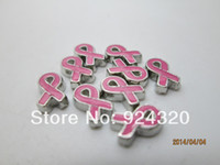 cancer charms - Floating Pink Cancer Ribbon Charm Fits Memory Locket
