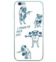 bass soft case - For Iphone S Plus S Cartoon Dog TPU Soft Case Shut UP and squat Be still I Train to kick bass Tag Someone You Workout With skin