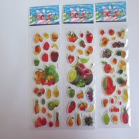 baby classroom - 2015 baby cartoon colorful watermelon apple banana fruit delicacy stickers PVC Three Dimensions decorate the classroom hot sale