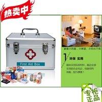 Wholesale 14 inch aluminum alloy first aid box family hospital medical box factory inspection earthquake medicine box