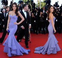 apple international shipping - Lavender fashion red carpet celebrity dresses sexy backless ruffles skirt backless evening prom gowns formal dresses