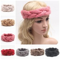 Cheap knitted headband for women fashion ladies winter headbands girls crochet hair accessories wool braided hair bands woven headband wholesale