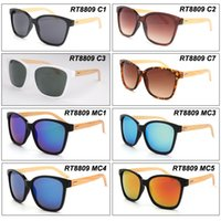 Wholesale Vintage meter stud Natural Bamboo Sunglasses Gather Styles Colors Fashion Sun Glasses