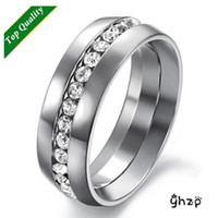 Wholesale Hot sale Price Fashion Boutique Rings For Men Titanium Steel with AAA CZ Diamond Big Size Ring