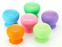 Wholesale mini Bluetooth Speaker MIC Voice Mushroom Speakers Hands Free Silicone Sucker Waterproof for iPhone iPad Samsung Galaxy