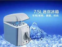 Wholesale l car refrigerator hot and cold dual purpose mini car small refrigerator car gift