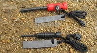 Wholesale The Flint Stones Fire Starter With Whistle Outdoor Survival Kit Green mm