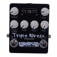 Wholesale Black Silver Triple Wreck high gain distortion pedal Hand Built Guitar Effect Pedals MU0376